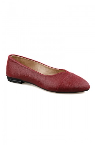 Claret red Woman Flat Shoe 0171-03