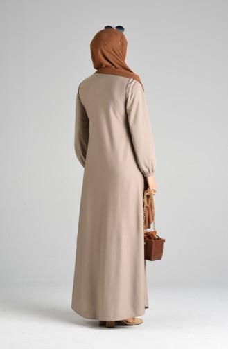 Habillé Hijab Beige 1907-10