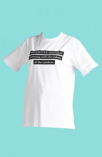 Weiß T-Shirt 2002-03