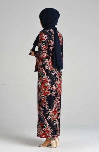 Navy Blue Dress 8875-01