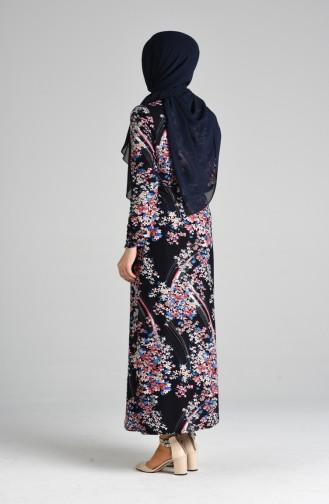 فستان أزرق كحلي 8875-02
