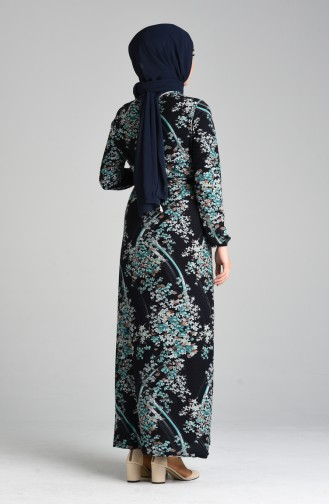 Robe Hijab Bleu Marine 8875-03