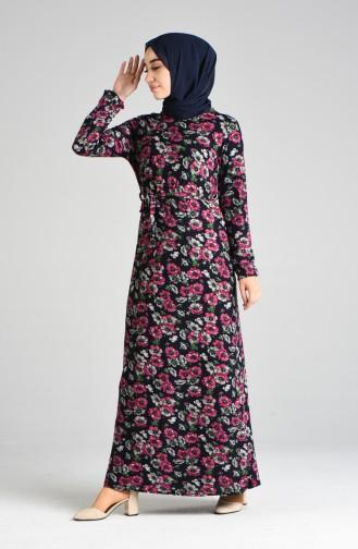 Navy Blue Dress 8877-02