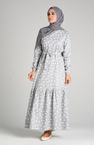 Grau Hijap Kleider 4601-01