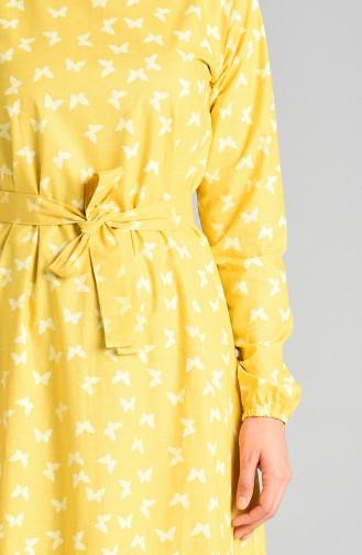 Robe Hijab Moutarde 4601-02