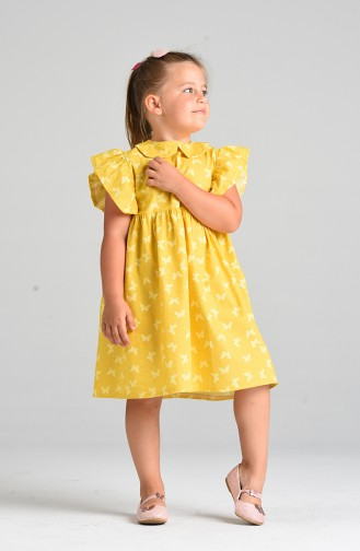 فساتين الاطفال أصفر خردل 4602-01