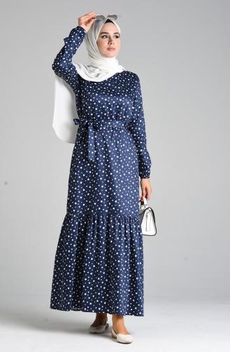 فستان أزرق كحلي 4603-02