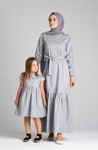 Grau Hijap Kleider 4603-04