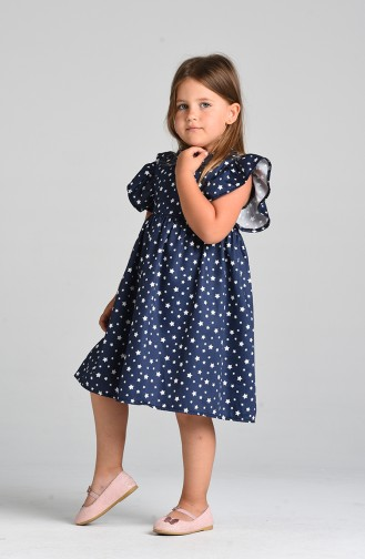 Robe Enfant Bleu Marine 4604-01