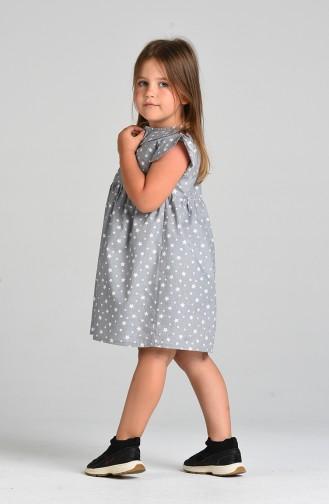 فساتين الاطفال رمادي 4604-02