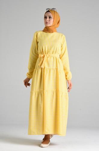 Robe Hijab Jaune 4605-02