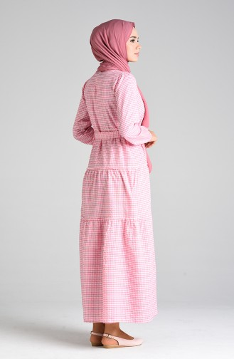 Pink İslamitische Jurk 4605-06