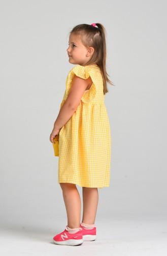 فساتين الاطفال أصفر 4606-02