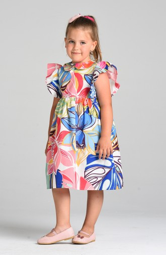 Green Kids Dress 4623-01