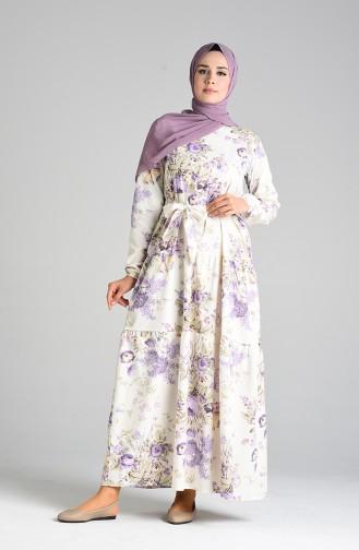 Robe Hijab Ecru 4633-01