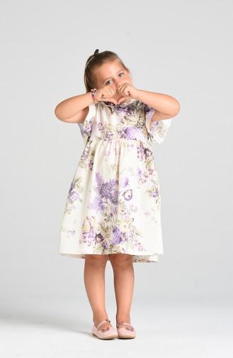 فساتين الاطفال ليلكي 4634-01