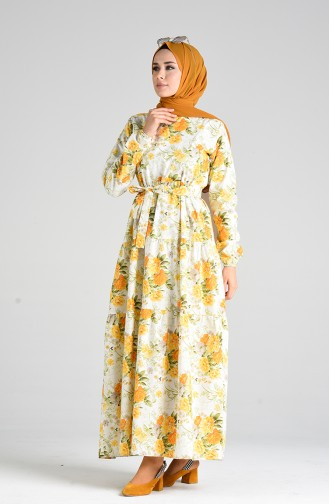 Robe Hijab Moutarde 4635-01