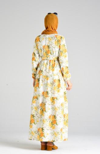 فستان أصفر خردل 4635-01