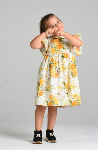 Robe Enfant Ecru 4636-01