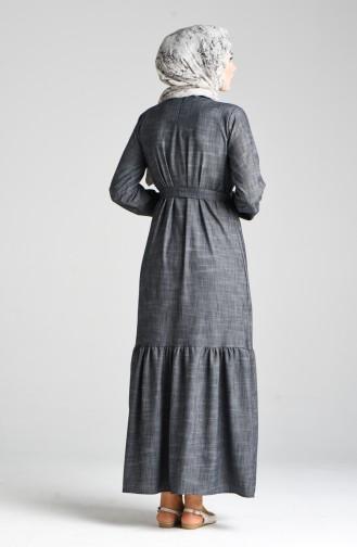 Robe Hijab Fumé 4637-01