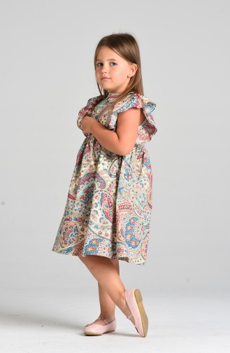 Robe Enfant Turquoise 4647-01
