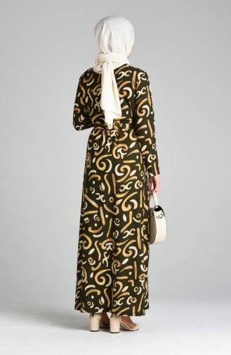 Khaki Hijap Kleider 5709A-04