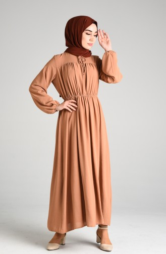 Robe Hijab Café au lait 6131-07
