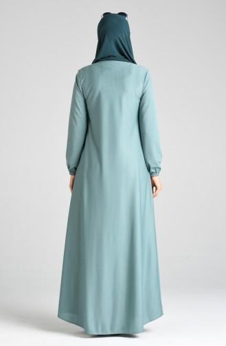 فساتين سهرة بتصميم اسلامي أخضر 1907-07