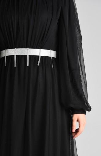 Habillé Hijab Noir 4106-01