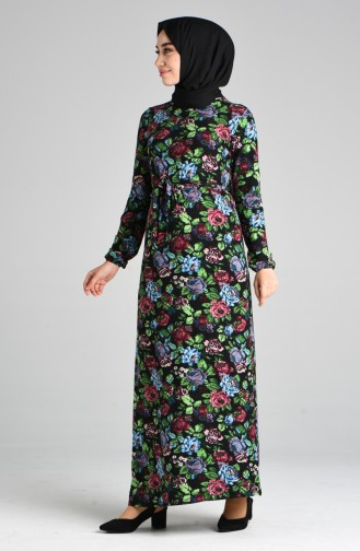 Grün Hijap Kleider 8876-02