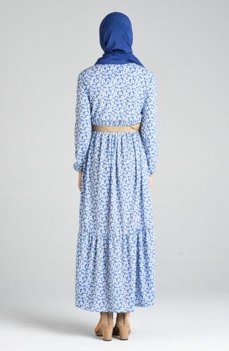 Blau Hijap Kleider 0376-02