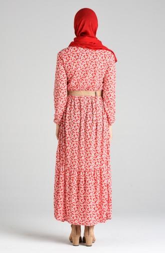 Rot Hijap Kleider 0376-04