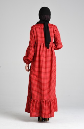 Robe Hijab Rouge 1395-01