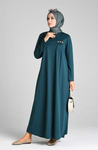 Smaragdgrün Hijap Kleider 1908-04