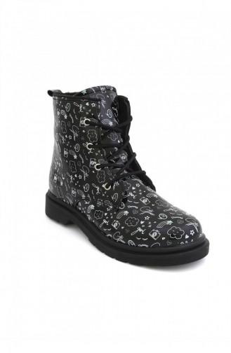 Chaussures Enfant Noir 4706