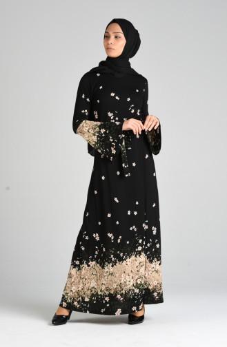 Schwarz Hijap Kleider 0132-01