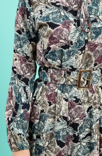 Koralle Hijap Kleider 4539-04