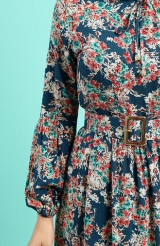 Robe Hijab Pétrole 4541-06