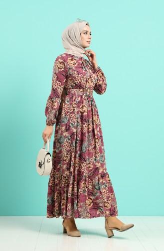 Dusty Rose İslamitische Jurk 4543-05