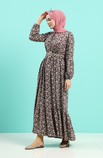 Lila Hijap Kleider 4544-03