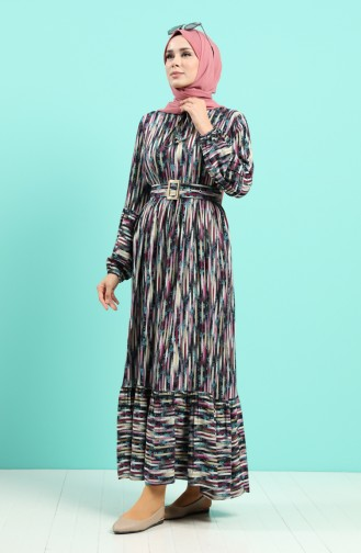 Robe Hijab Pourpre 4545-01
