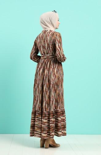 Robe Hijab Khaki 4545-02