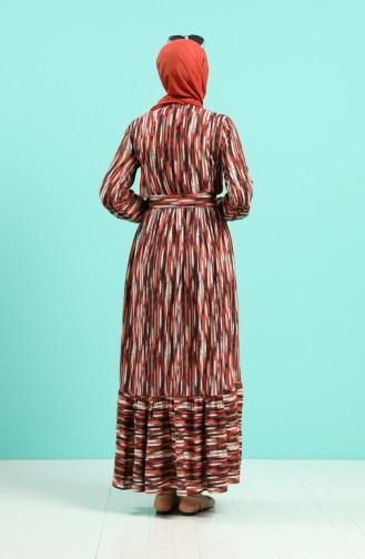 Robe Hijab Couleur brique 4545-04