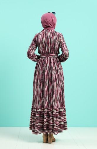 Robe Hijab Plum 4545-05