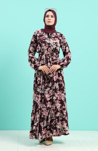 Robe Hijab Pourpre 4540-03