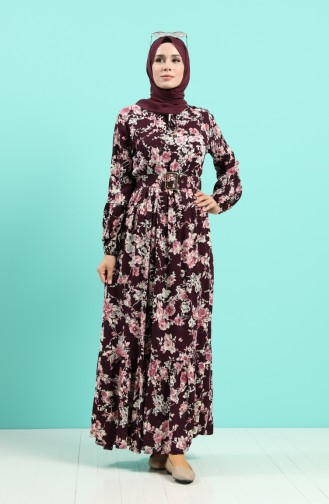 Lila Hijap Kleider 4540-03