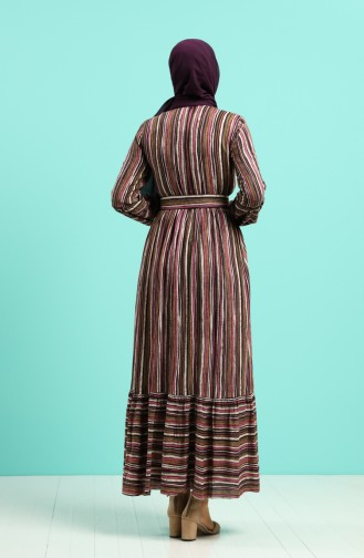 Robe Hijab Plum 4546-03