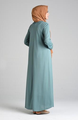 Robe Hijab Vert noisette 1908-09