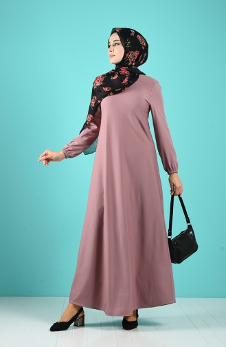 Dusty Rose İslamitische Avondjurk 1907-06