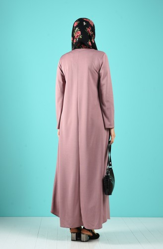 Robe Hijab Rose Pâle 1908-10
